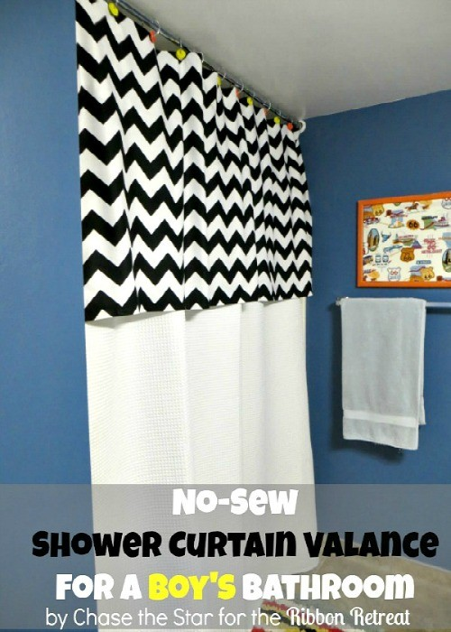 No Sew Shower Curtain Valance