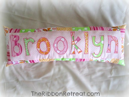 Personalized Name Pillow - {The Ribbon Retreat Blog}