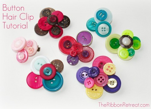 Button Hair Clip Tutorial