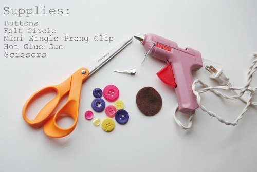 Supplies Needed for the Button Hair Clip Tutorial