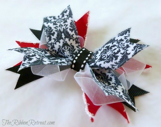 Spikey Clip Bow Tutorial