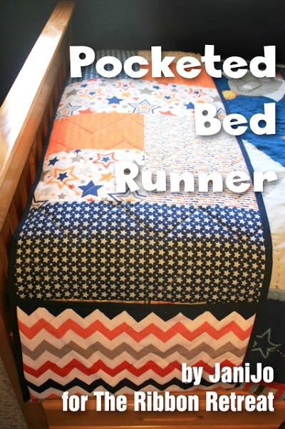 Pocketed Bed Runner - The Ribbon Retreat Blog