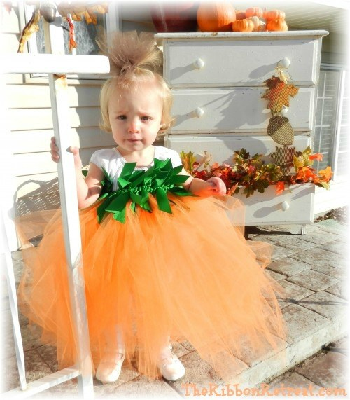 Pumpkin Tutu Costume - {The Ribbon Retreat Blog}