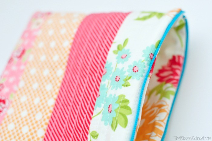 Quilt As You Go Zipper Bag - The Ribbon Retreat Blog