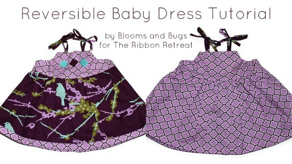 Learn how to make a reversible baby dress, two outfits in one!