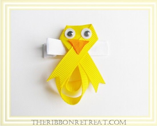 Ribbon Chick Hair Clip Tutorial - The Ribbon Retreat Blog