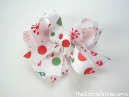 Ribbon Christmas Card Holder - {The Ribbon Retreat Blog}