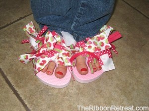 Ribbon Flip Flops - {The Ribbon Retreat Blog}