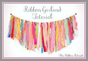 Ribbon Garland Tutorial - The Ribbon Retreat Blog