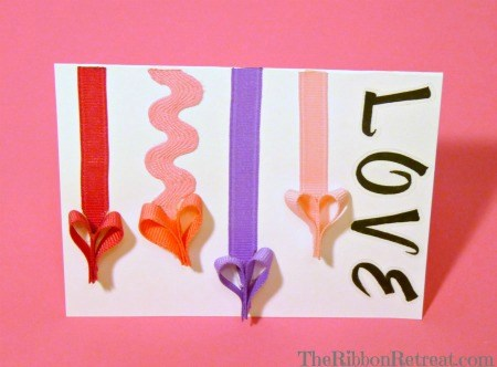 Ribbon Heart Valentine - {The Ribbon Retreat Blog}