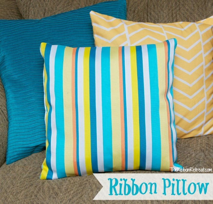 Ribbon Pillow Tutorial - The Ribbon Retreat Blog