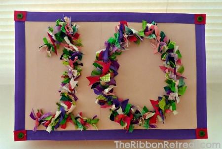 Ribbon Tied Wire Numbers - {The Ribbon Retreat Blog}