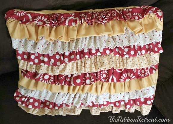 Ruffle throw pillow all finished!