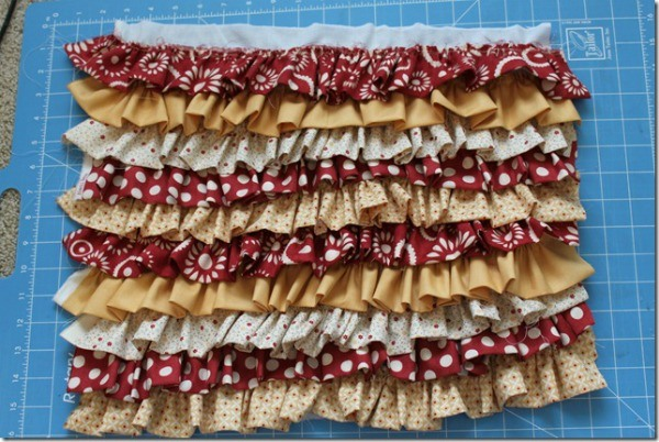All the ruffles pinned.