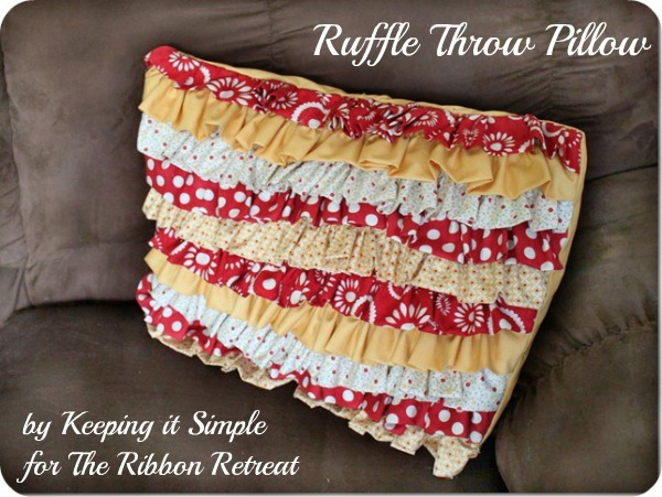Learn how to make a cute throw pillow with ruffles!