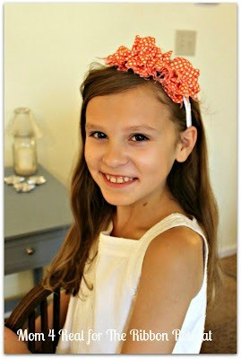 Decorate her hair with a super cute Ruffled Headband. Easiest project ever!