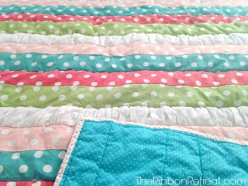 Ruffled Strip Quilt - The Ribbon Retreat Blog