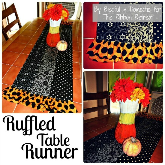 Ruffled Table Runner Tutorial (HALLOWEEN) - {The Ribbon Retreat Blog}