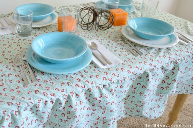 Ruffled Tablecloth Tutorial - The Ribbon Retreat Blog