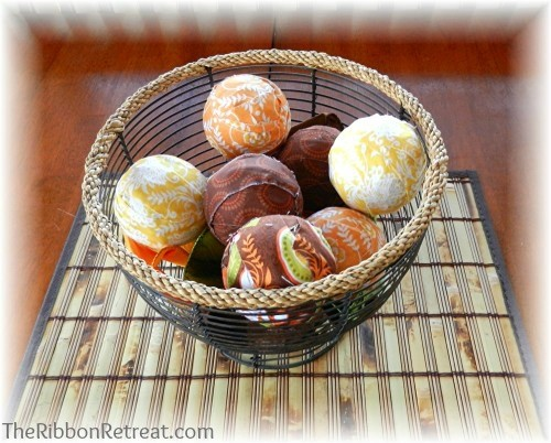Scented Fabric Decorative Balls - {The Ribbon Retreat Blog}