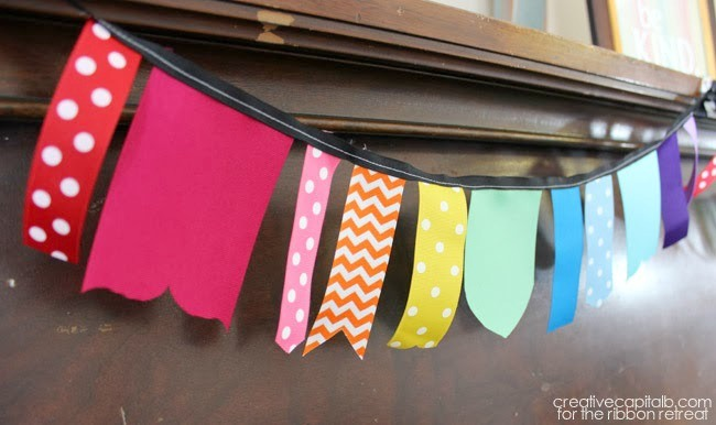 Shaped Ribbon Pennant Banner - The Ribbon Retreat Blog