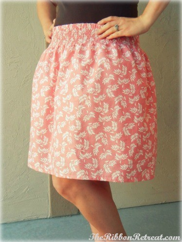 Shirred Skirt - {The Ribbon Retreat Blog}