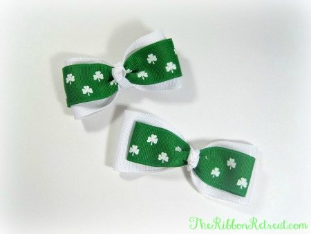 Simple St. Patrick's Day Bow - {The Ribbon Retreat Blog}