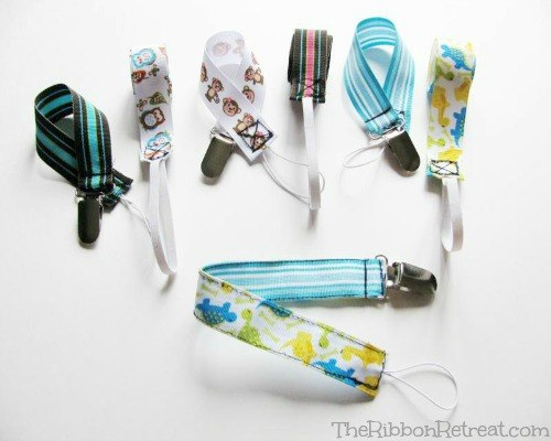 Soother Clip Tutorial - The Ribbon Retreat Blog