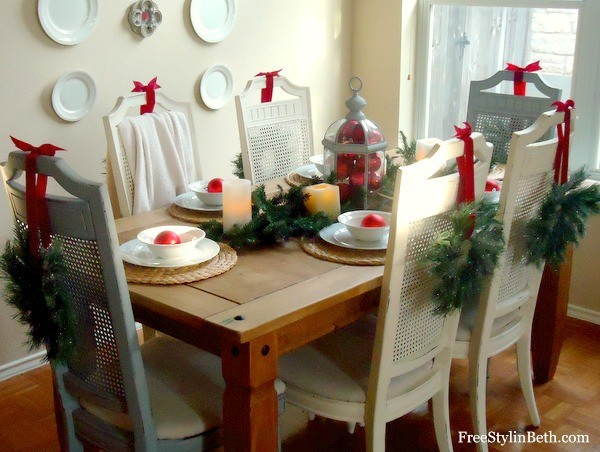 Sparkling Dining Chair Wreath - The Ribbon Retreat Blog