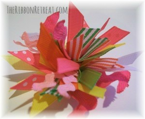 Spikey Pom Pom Hair Clip - {The Ribbon Retreat Blog}