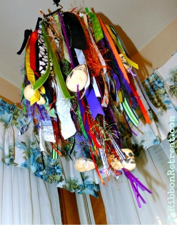Spooky and Cute Ribbon Mobile - {The Ribbon Retreat Blog}