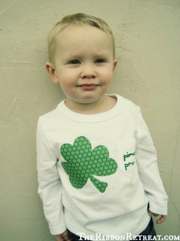 St. Patrick's Day Shirt - {The Ribbon Retreat Blog}