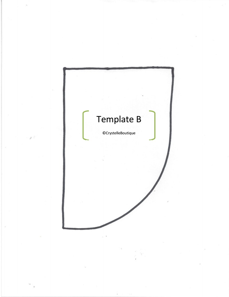 Kite Bow Template Printable And template b