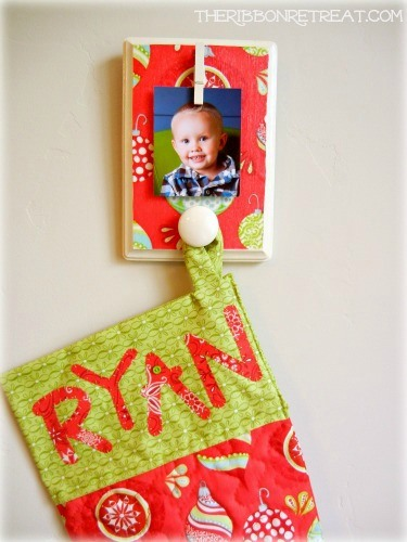 Stocking Holder - {The Ribbon Retreat Blog}