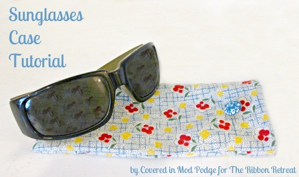 Keep your glasses safe with a super cute Sunglasses Case! Easy and fun!