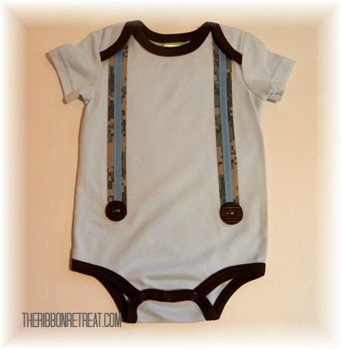 Suspender Onesie - {The Ribbon Retreat Blog}