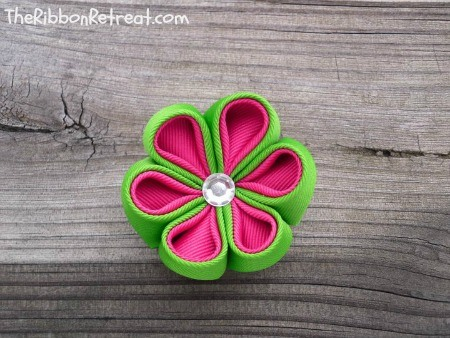 Sweet Watermelon Flower - {The Ribbon Retreat Blog}