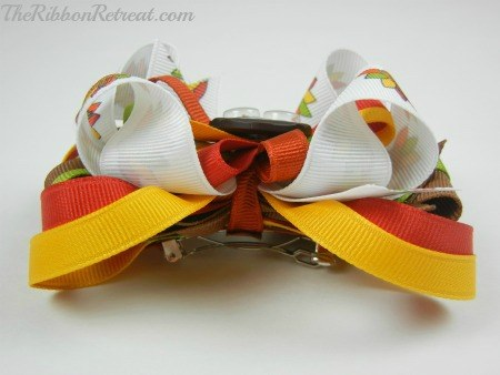 Thanksgiving Turkey Bow - {The Ribbon Retreat Blog}