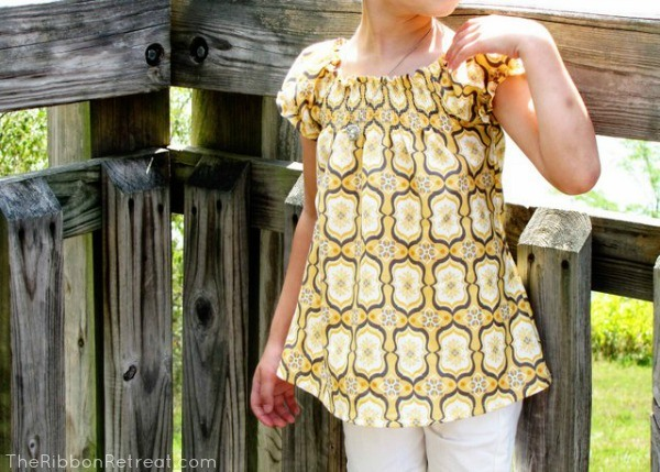 Beautiful top that is easy to sew for any little girl.