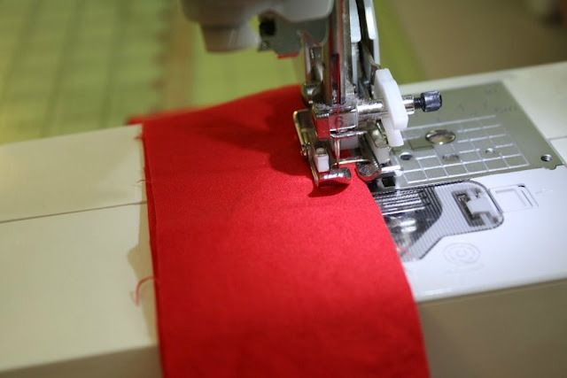 Sew your sash right sides together.