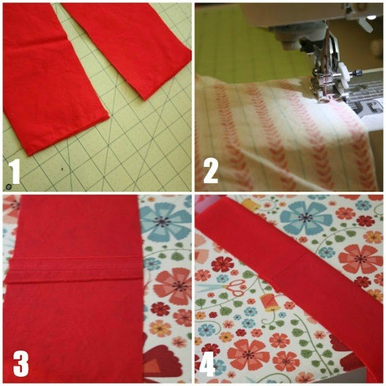 Cutting and making the ruffle.