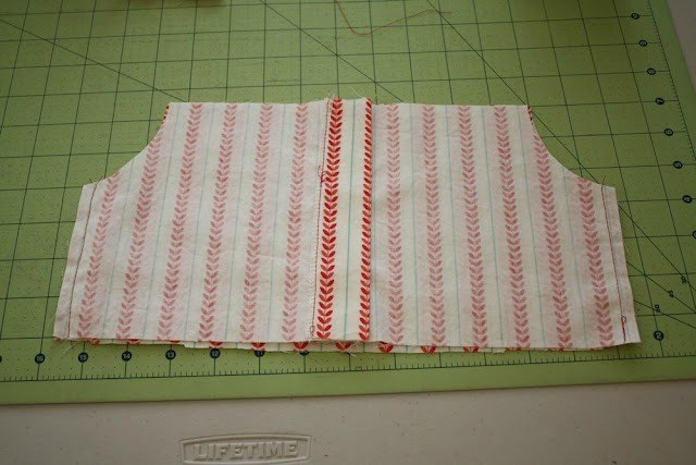 Sew together front and back pieces.