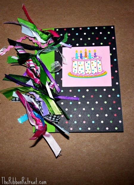 Tied Ribbon Birthday Card - {The Ribbon Retreat Blog}