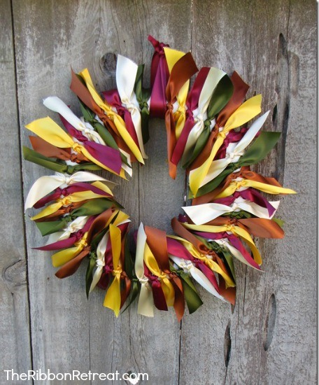 Use this quick and easy tutorial to create a beautiful Tied Ribbon Wreath.