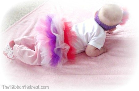 Tulle Headband and a Ruffle Butt - {The Ribbon Retreat Blog}