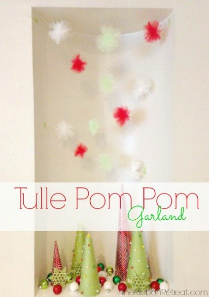 Tulle Pom Pom Garland - The Ribbon Retreat Blog