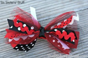 Tulle & Ribbon Scrap Bows - The Ribbon Retreat Blog
