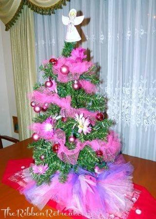 tutu tree skirt the ribbon retreat blog - Pink Christmas Tree Skirt