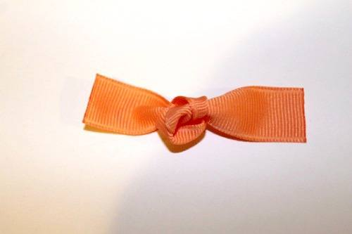 "Tie a knot in your 5/8"" ribbon."