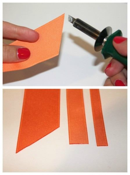 Seal your ribbon edges with your preferred method.
